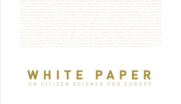 White Paper on Citizen Science for Europe